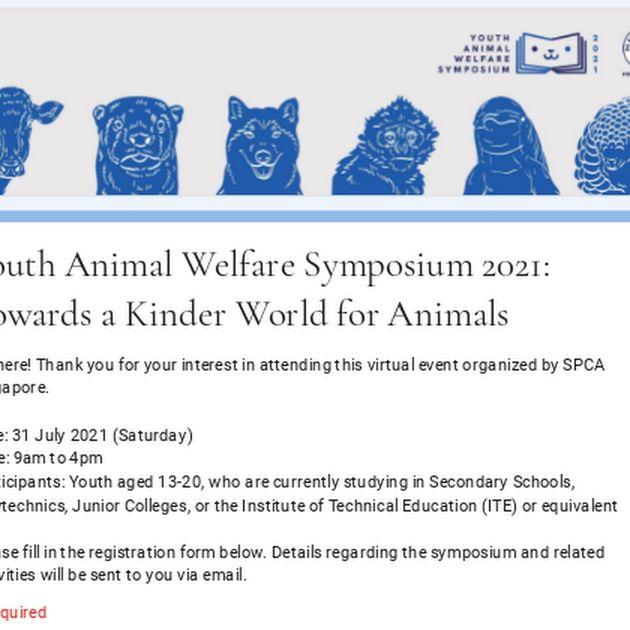 Youth Animal Welfare Symposium 2021: Towards A Kinder World For Animals