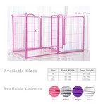 M Size, 6-Panel Metal Pet Fence Playpen (New)  -